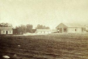 Stone sawing mill, Junction City, Kansas by Alexander Gardner, 1867.