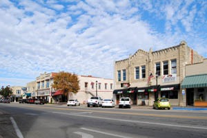 Business buildings in Junction City, Kansas today by Kathy Weiser-Alexander.