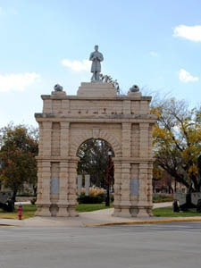 Civil War Memorial Arch in Junction City, Kansas by Kathy Weiser-Alexander.