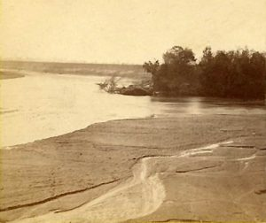 The junction of the Smoky Hill and Republican Rivers near Junction City, Kansas by Alexander Gardner, 1867.