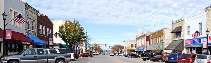 Washington Street, Junction City, Kansas by Kathy Weiser-Alexander.