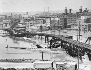 Flooding in Kansas City, 1851.