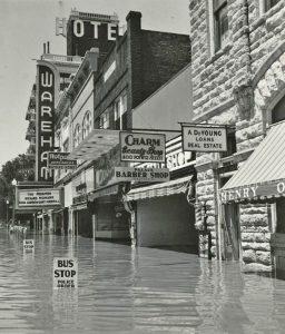 Flooding in Manhattan, Kansas, 1951.