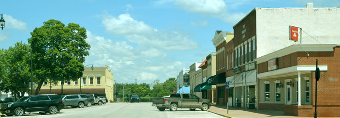 Paola, Kansas Business District by Kathy Weiser-Alexander.