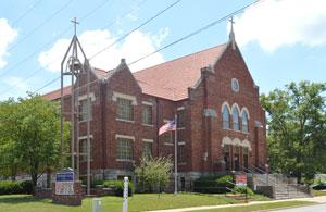 Methodist Church in Paola, Kansas by Kathy Weiser-Alexander.