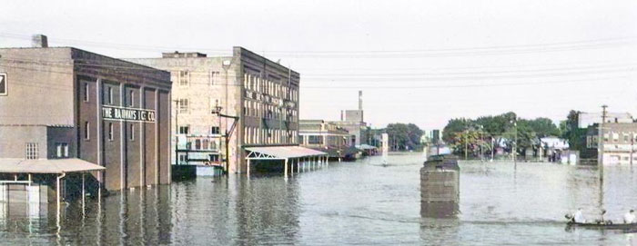 Topeka, Kansas Flood, 1951.