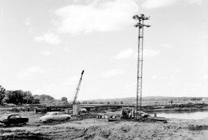 Tuttle Creek Dam construction.
